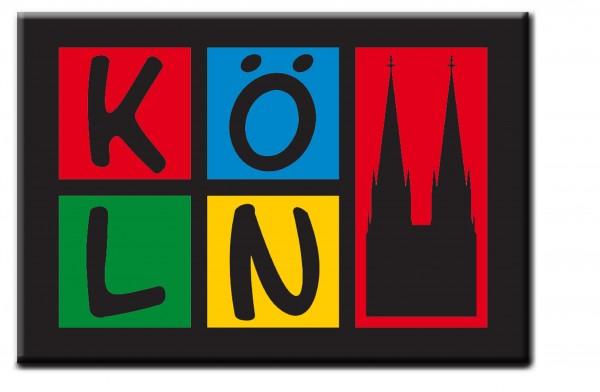 Magnet Köln, schwarz-bunt