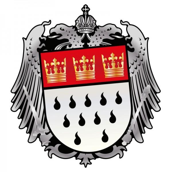 Aufkleber Wappen silber