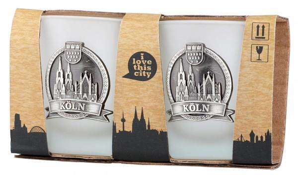 Schnapsglas Kölner Dom, 2er Set