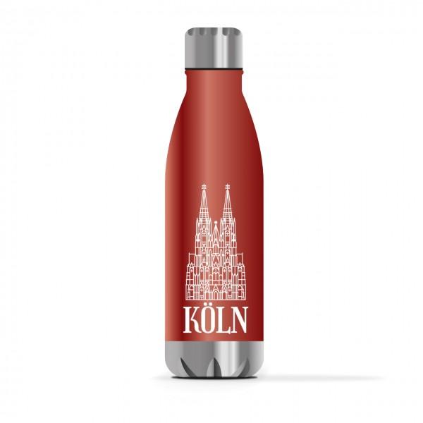 Köln Trinkflasche 0,5l, rot