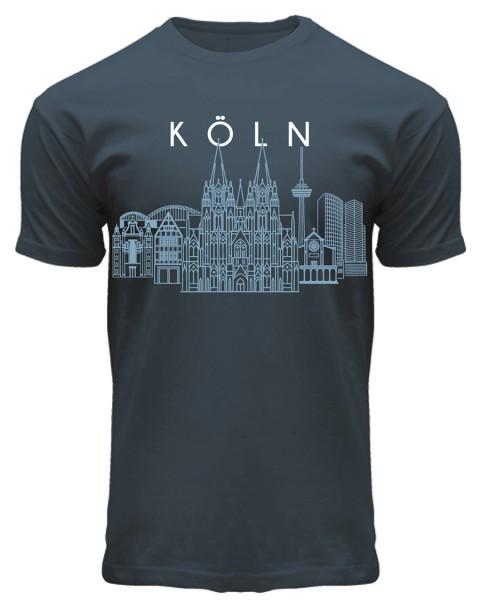 T-Shirt Skyline, Herren