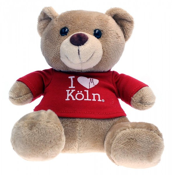 Teddy 'I love Köln', roter Hoodie