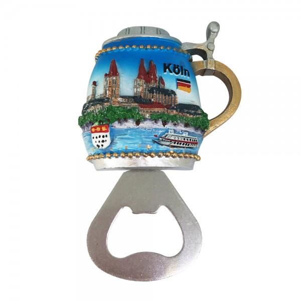 Magnet Flaschenöffner Köln bunt