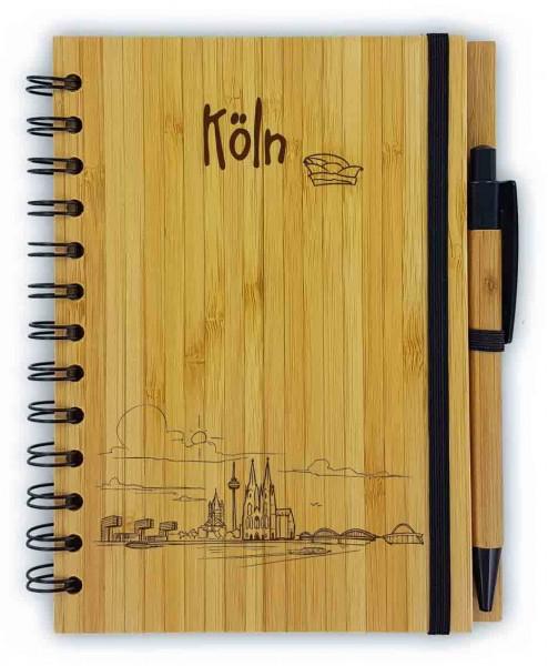 Bambus Notizbuch Skyline Köln