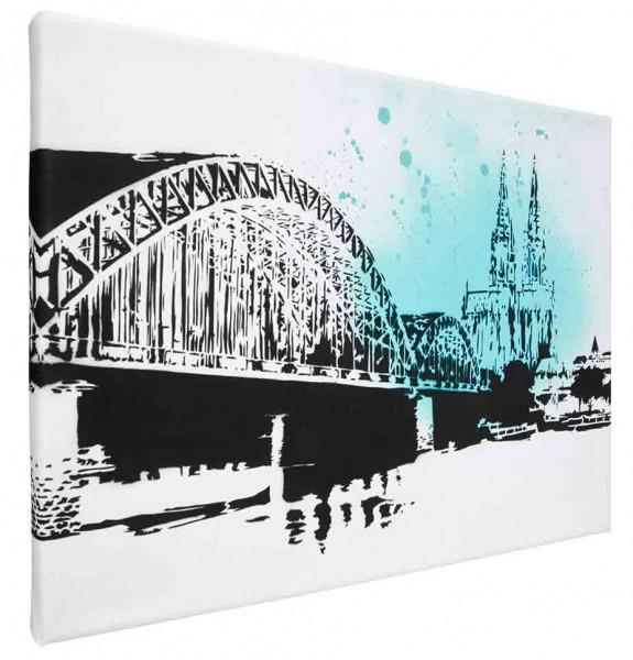 Leinwand Bild Köln Hohenzollernbrücke