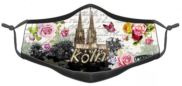 Köln Maske - Motiv Dom-Rosen (2er Set)