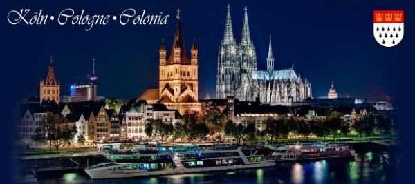 Magnet Köln Panorama Nacht