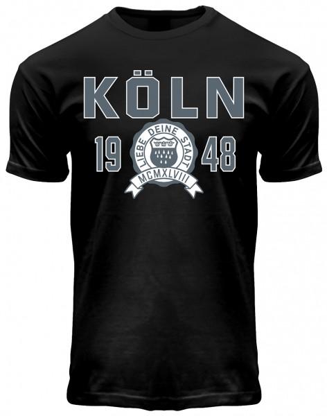 Köln College T-Shirt Herren, schwarz
