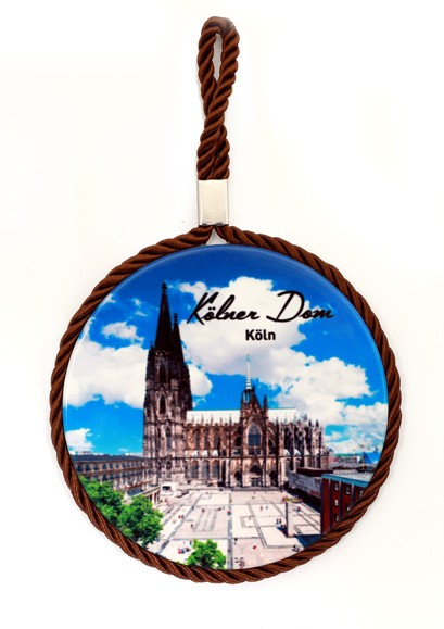 Wandteller mit Kordel Kölner Dom