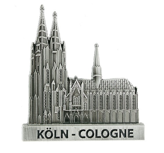 """I love Köln"" Magnet Kölner Dom silber"