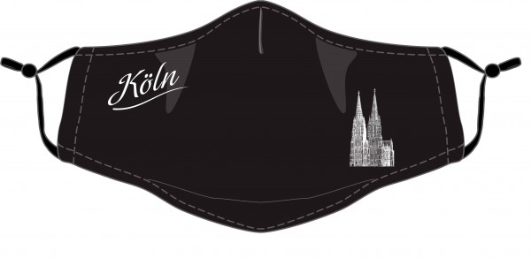 Köln Maske - Motiv Dom (2er Set) schwarz