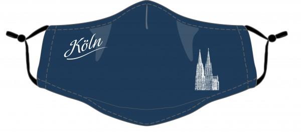 Köln Maske - Motiv Dom (2er Set) blau