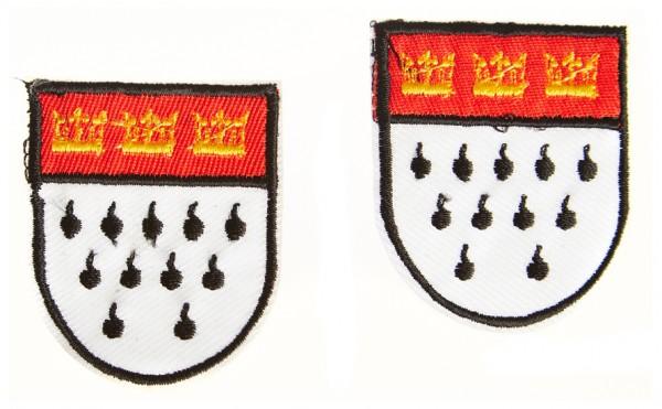 Bügelbild Wappen, 2er-Set