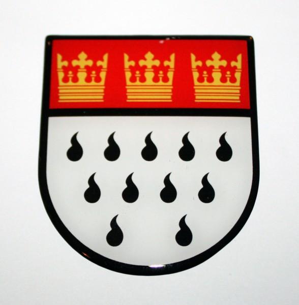 3d Doming-Aufkleber Kölner Wappen