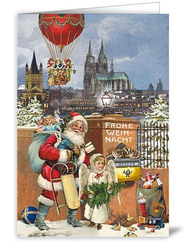 Nostalgische Klappkarte Weihnachten in Köln