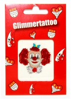 Glimmer Tattoo mit Clown Motiv