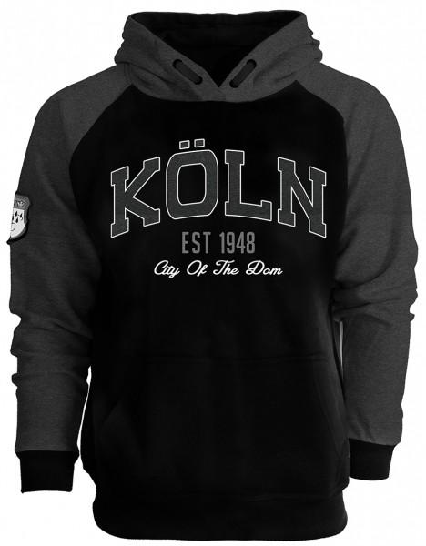 Köln Baseball Hoodie, schwarz/grau