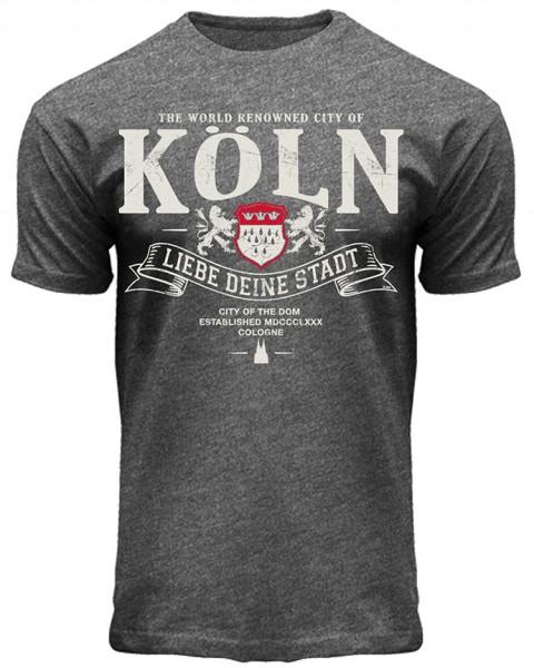 T-Shirt Liebe Deine Stadt, in anthrazit, Herren