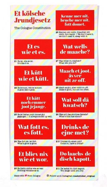 Masken Sticker Original - Grundgesetz