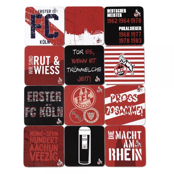 FC Köln Kork-Untersetzer, 12er Set