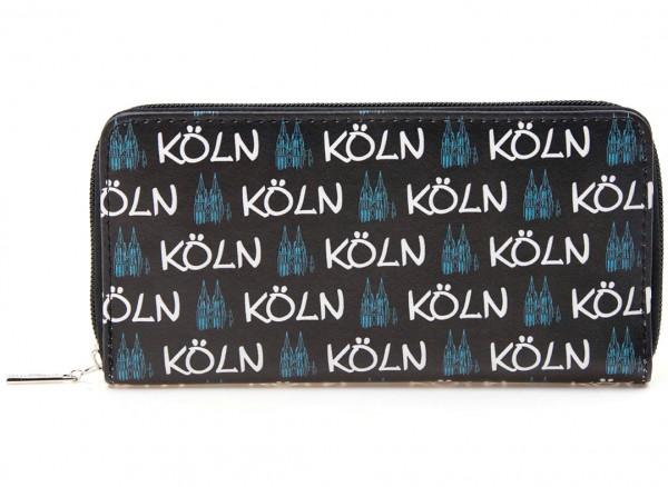Geldbörse Köln mit Dom, schwarz-blau