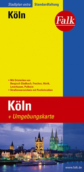 Köln mit Umgebungskarte - Falk