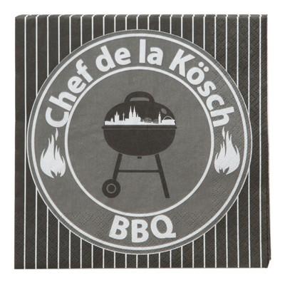 Servietten Chef de la Kösch BBQ