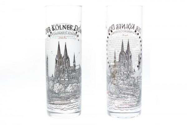 Kölschglas mit Kölner Dom Motiv