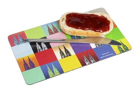 Frühstücksbrett mit Kölner Dom Motiv