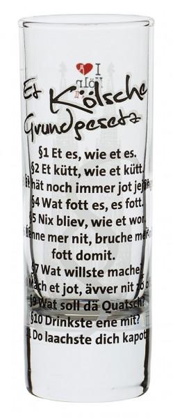 Schnapsglas I love Köln Kölsches Grundgesetz - Serie II