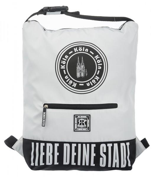 Köln Rucksack - Liebe deine Stadt, weiß