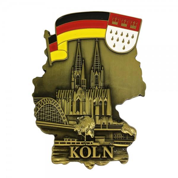Magnet Deutschland, Köln & Wappen aus Metall