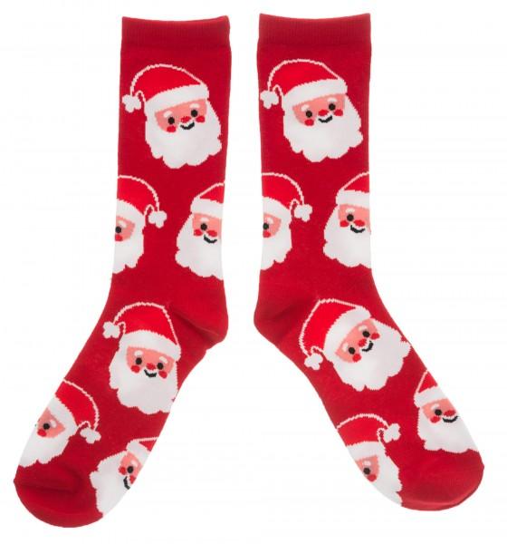 Weihnachtssocken Weihnachtsmann, rot