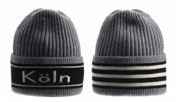 Köln Ringel-Mütze, grau /schwarz