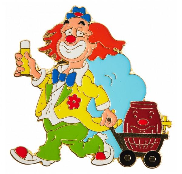 Clown Pin mit Bollerwagen