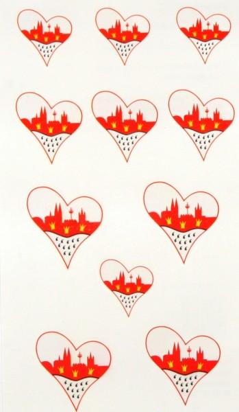 Tattoos mit Wappen-Herz Motiv