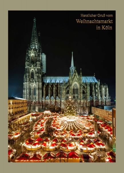 Karte Weihnachtsmarkt am Kölner Dom