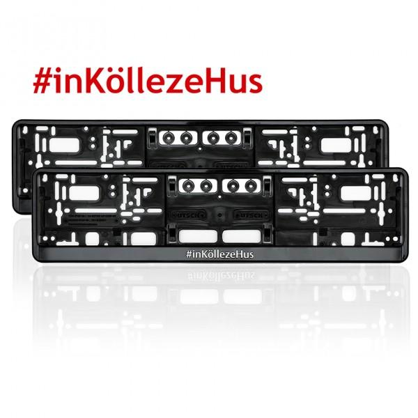 Kennzeichenhalter #inKöllezeHus 2er Set