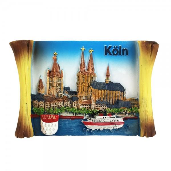 Magnet Köln Pergament-Rolle