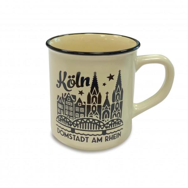 Köln Kaffeetasse - Domstadt, weiss