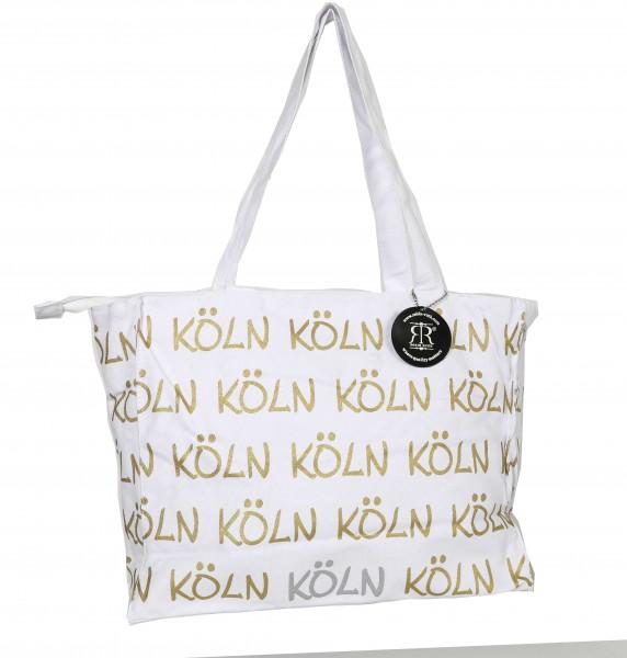 Köln Tasche, weiß-gold