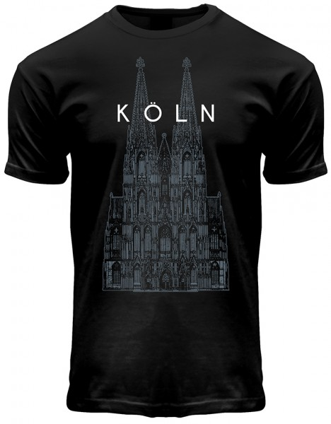 T-Shirt Kölner Dom, Herren, schwarz