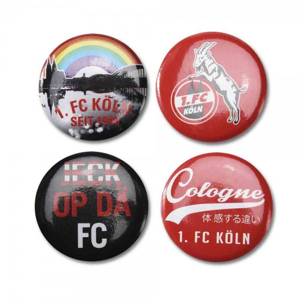 1. FC Köln Buttons 4er Set