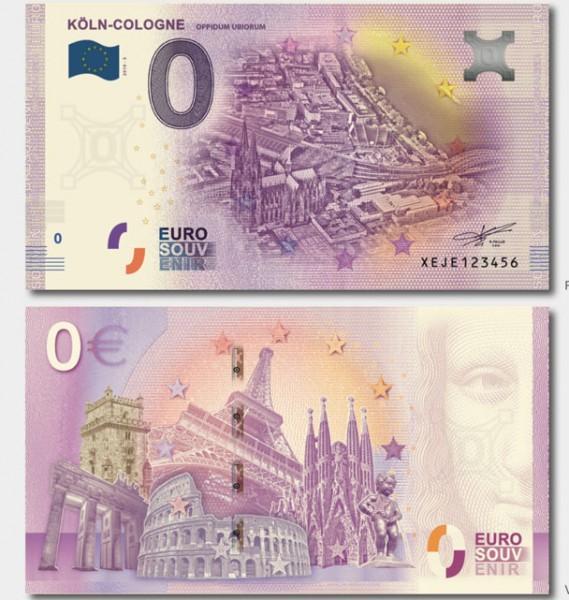 Null Euro Geldschein Köln Edition 5