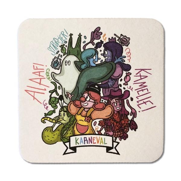 Bierdeckel-Postkarte Karneval