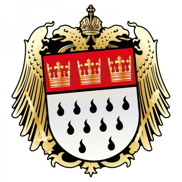Aufkleber Wappen gold
