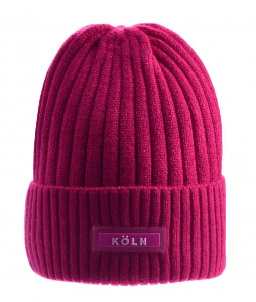 Köln Wintermütze, pink /weiß