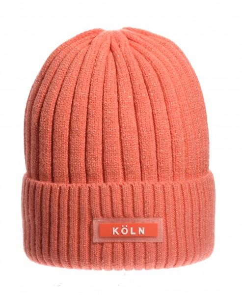 Köln Wintermütze, orange /weiß