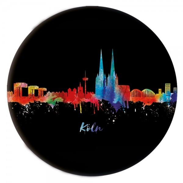 Button Köln Skyline, neon