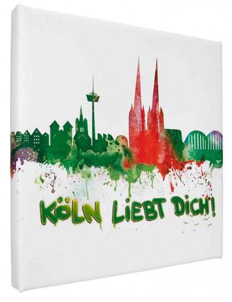 Leinwand Bild Köln liebt dich